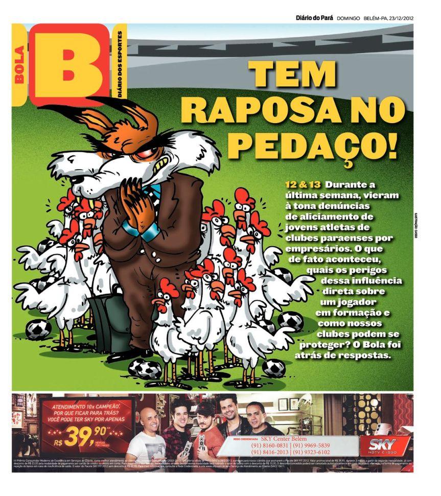 Capa do Bola, edição de domingo, 23
