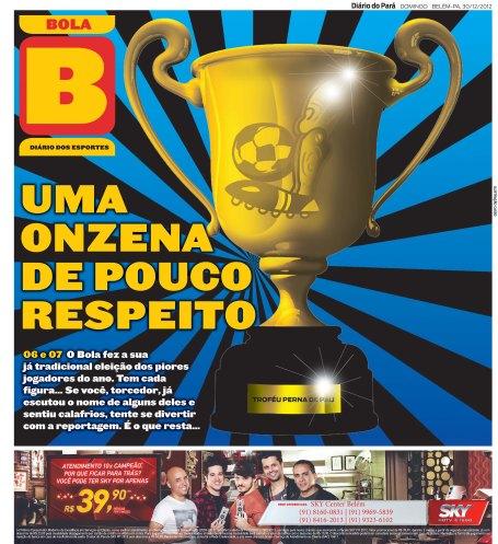Capa do Bola, edição de domingo, 30