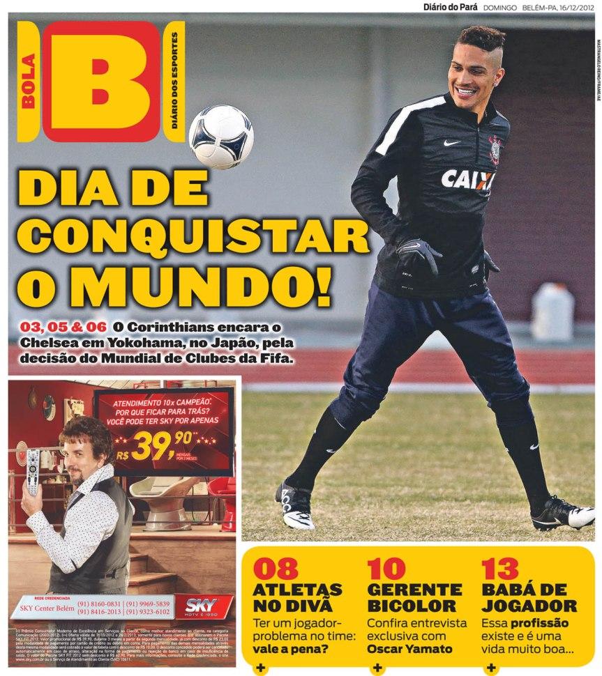 Capa do Bola, edição de domingo, 16
