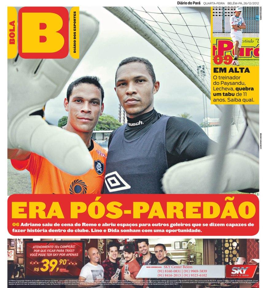 Capa do Bola, edição de quarta-feira, 26