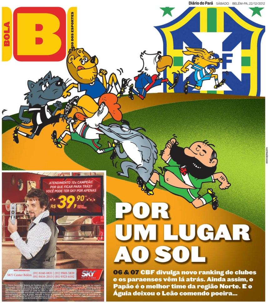 Capa do Bola, edição de sábado, 22