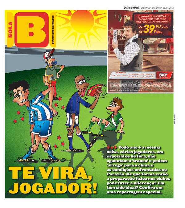 Capa do Bola, edição de domingo, 06