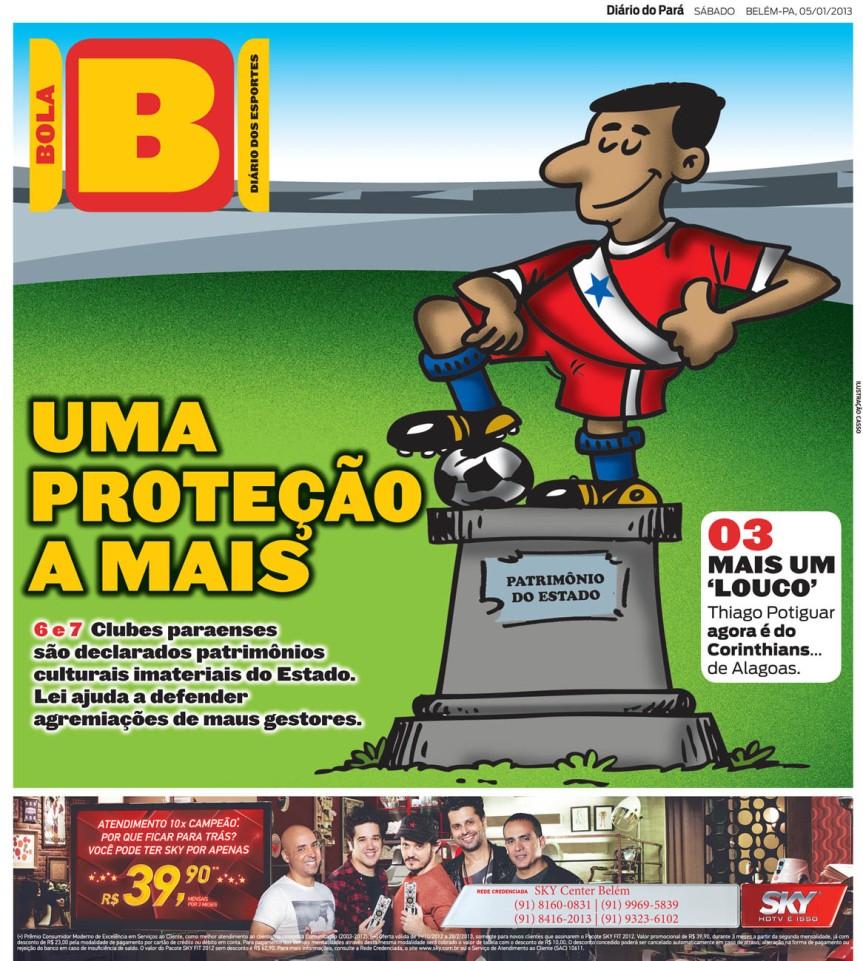 Capa do Bola, edição de sábado, 05