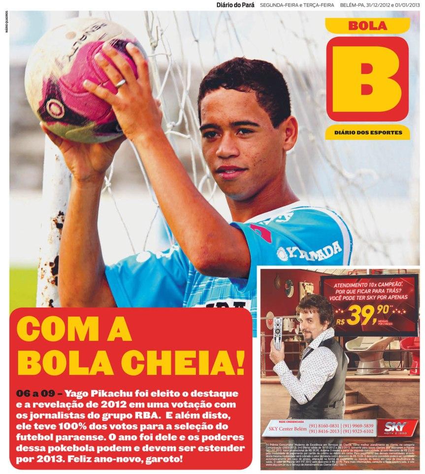 Capa do Bola, edição de 31/12 e 01/01/2013