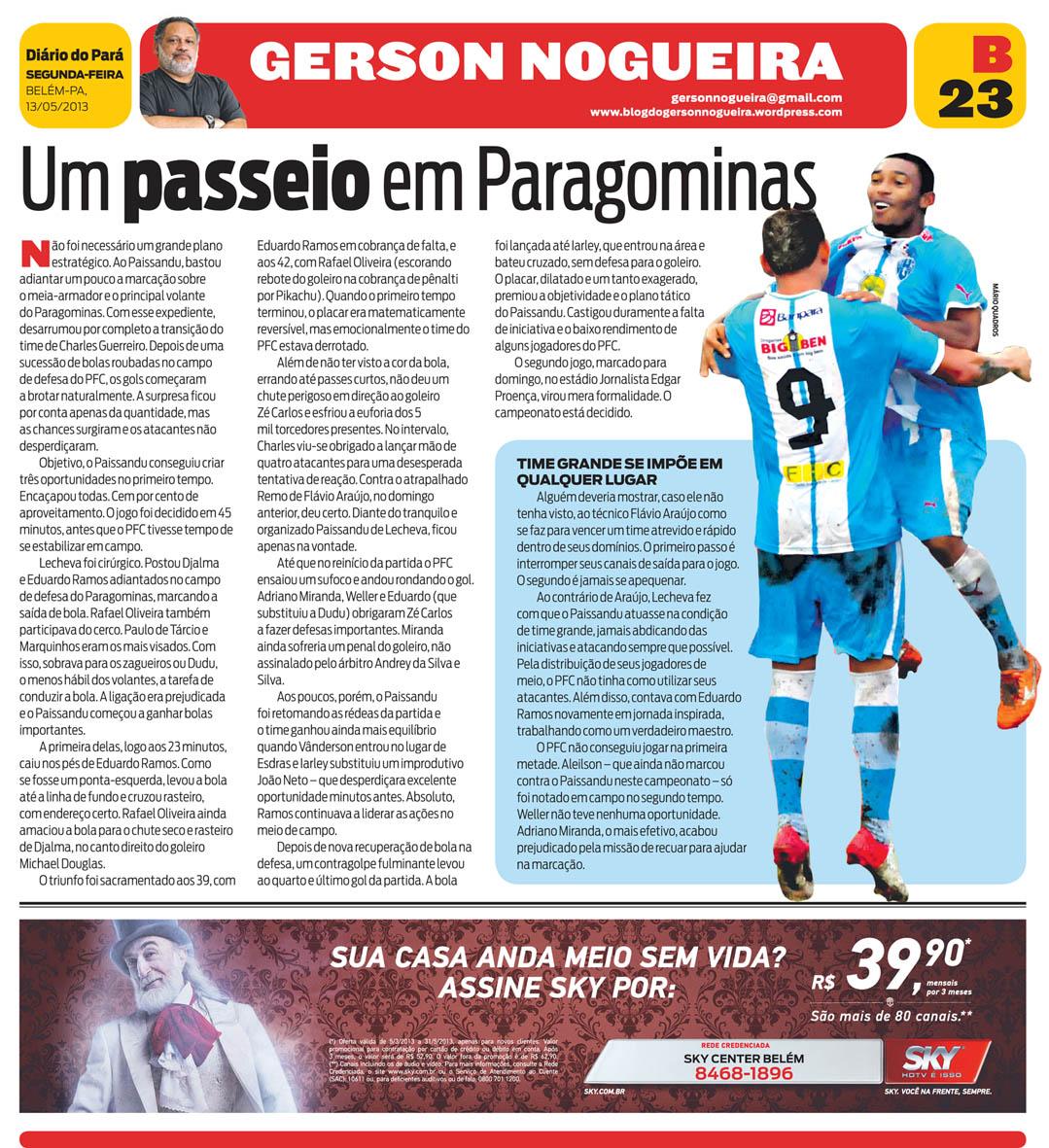 Um passeio em Paragominas – Blog do Gerson Nogueira 31edf8a0f9c93