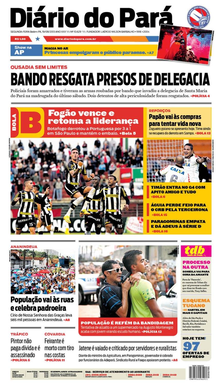 capa jornal -segunda 19-08-2013