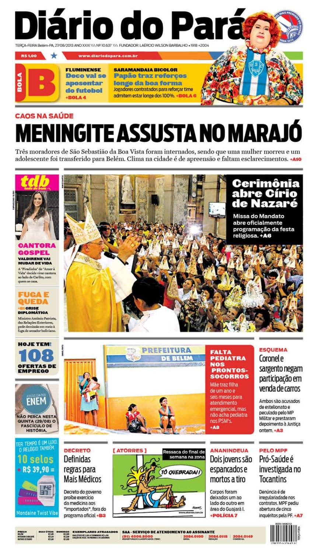 capa terça-feira 27-08-2013