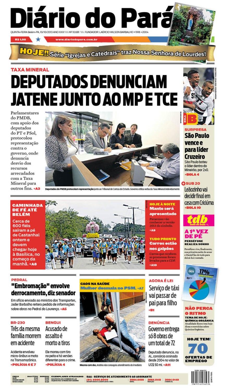 capa QUINTA-FEIRA 10-10-2013