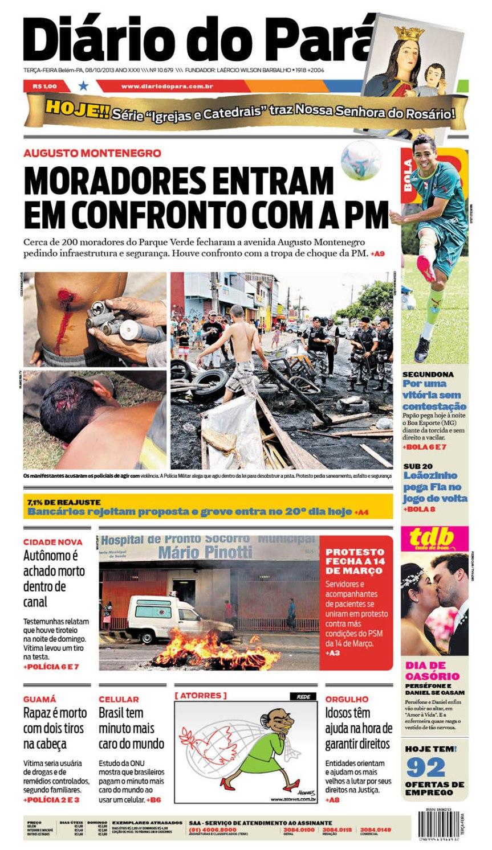 capa terça-feira 08-10-2013