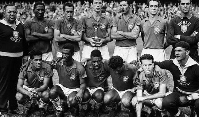 Group Photo of Brazil's Soccer Team