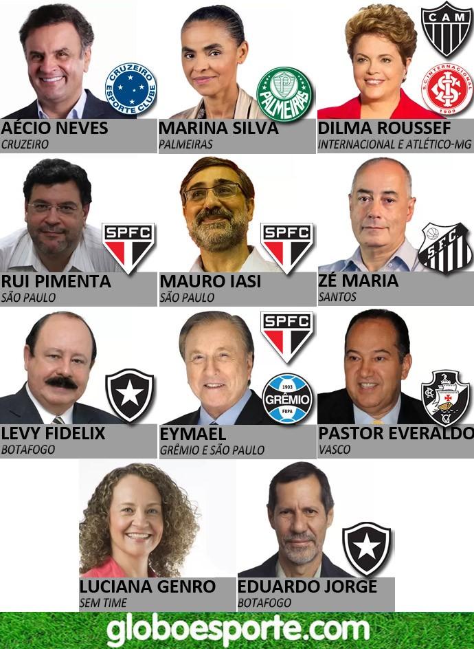 5acfd10e4c Veja aqui os times de cada candidato – Blog do Gerson Nogueira