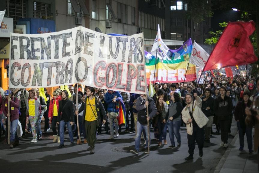 11/08/2016 - PORTO ALEGRE, RS - Ato fora temer. Foto: Guilherme Santos/Sul21