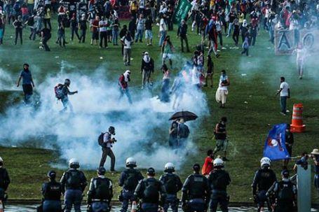 Resultado de imagem para vioLência contra os estudantes em brasilia